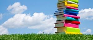 books_grass